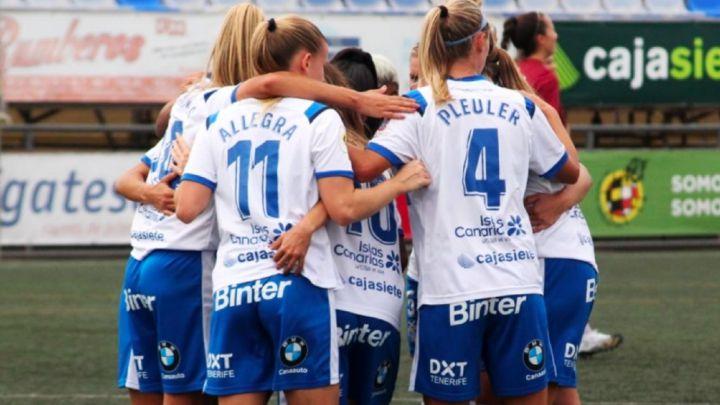 Jugadoras del Tenerife en un partido