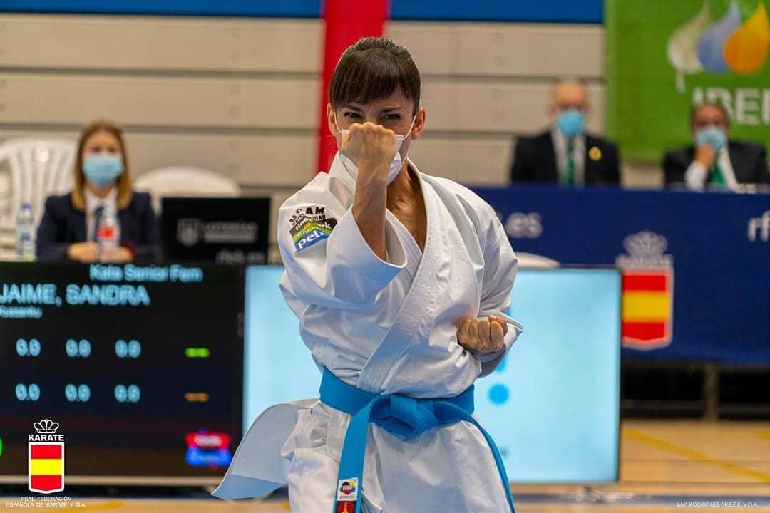 Sandra Sánchez durante el torneo