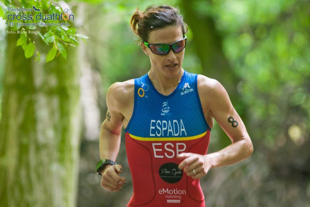 Rocío Espada duatleta y triatleta en cuarto campeonato europeo de Duatlón Cross