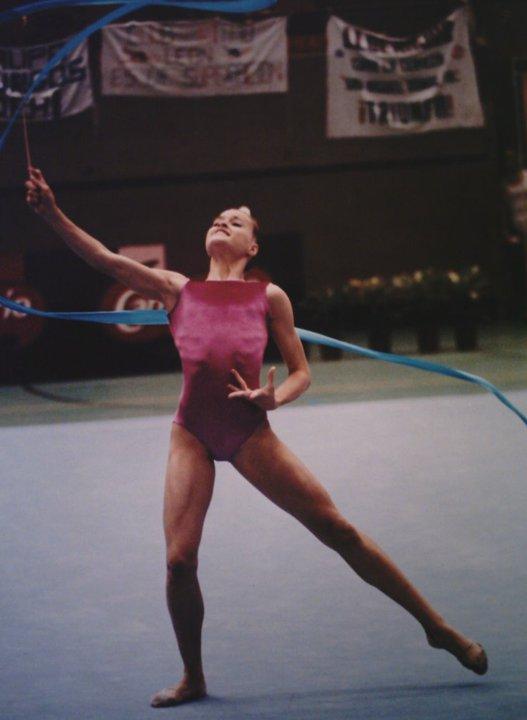 Rocío Espada duatleta y triatleta disputando un campeonato de gimnasia rítmica