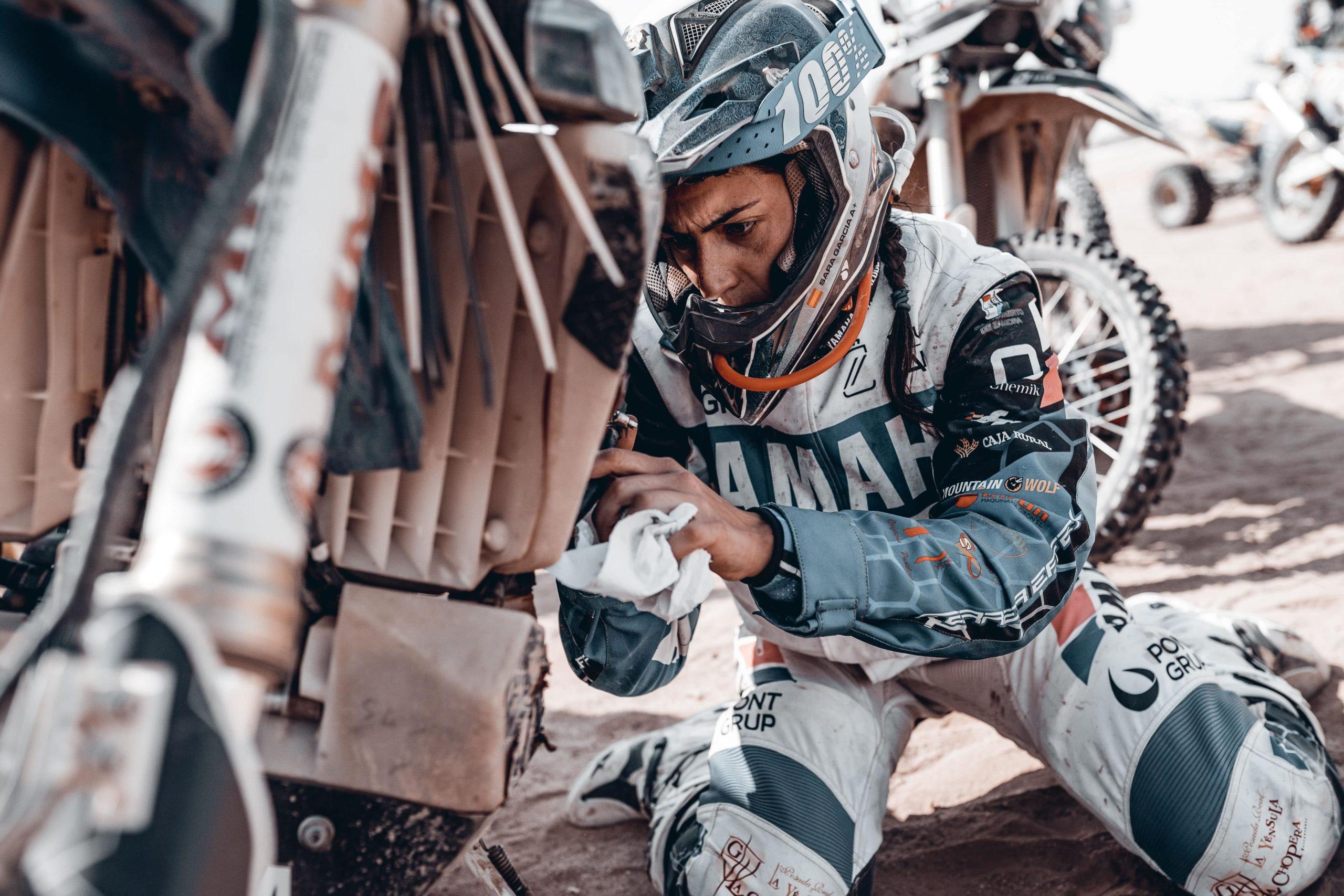 Sara García en el ecuador del Dakar 2021