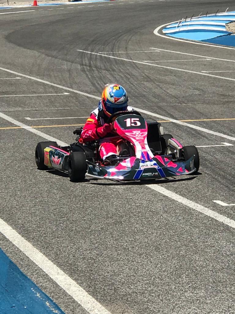 Marta Alonso durante un entrenamiento en el Circuito KR24 de Conil de la Frontera