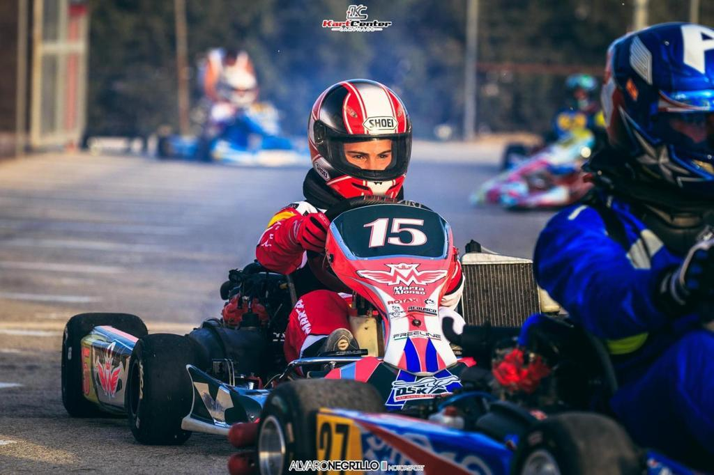 Marta Alonso, piloto de karting en la Carrera Social de Campillos