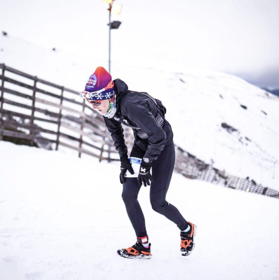 Virginia Pérez durante el Campeonato de España de Snowrunning en la Snow Running Sierra Nevada
