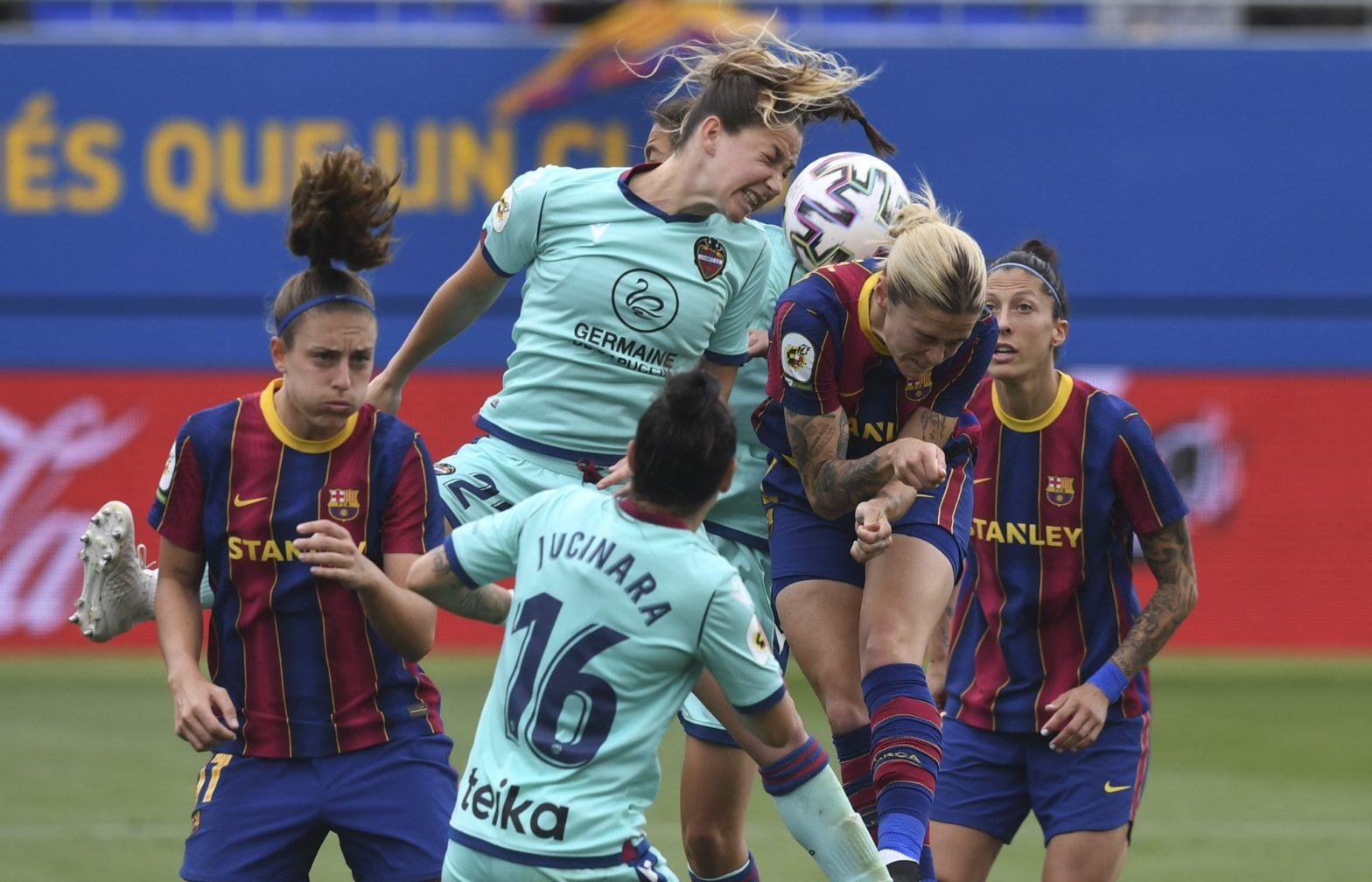 Las jugadoras del Barcelona siguen invictas