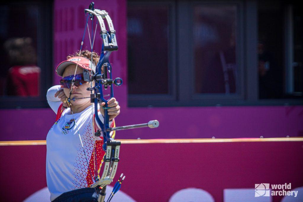 Andrea Marcos durante la competición