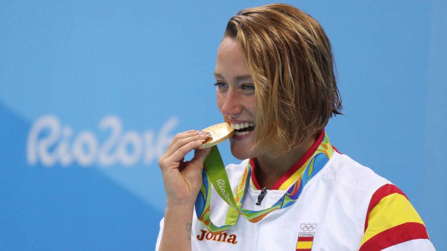 Mireia Belmonte ganadora de la medalla de oro en los JJOO