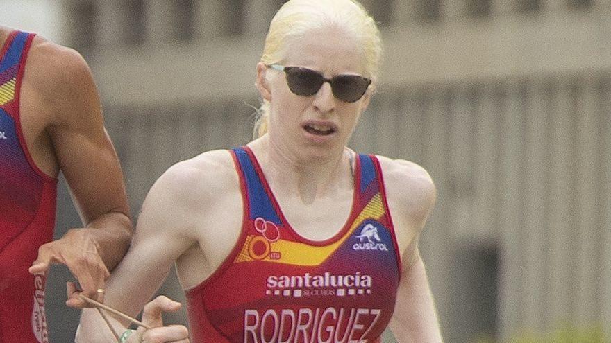 Susana Rodríguez durante una competición