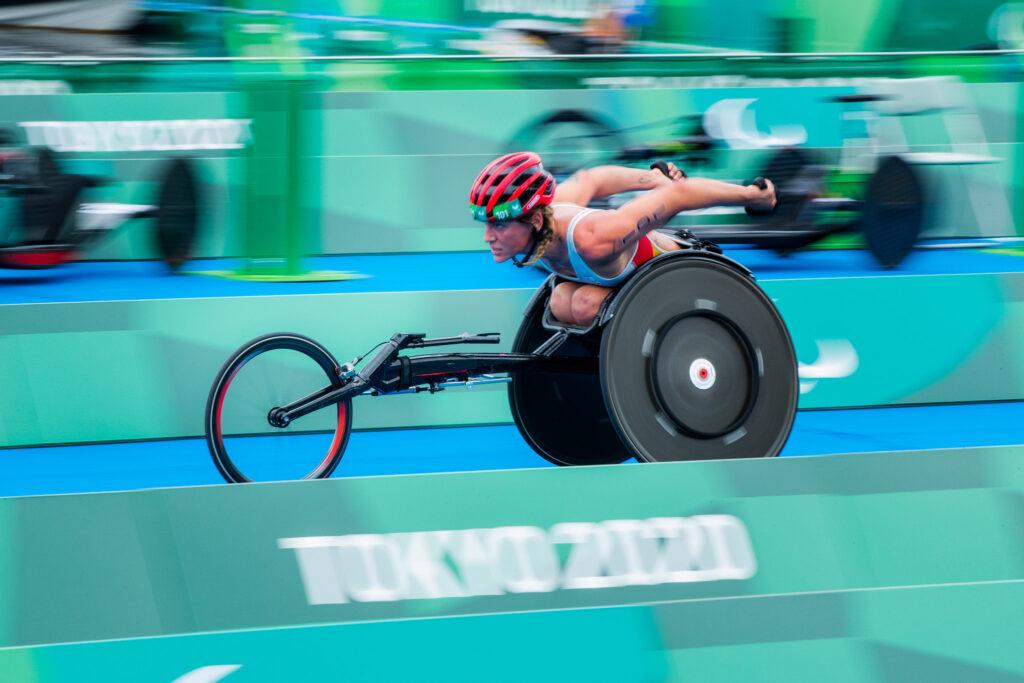 Eva Moral Bronce Tokio 2020 durante la carrera