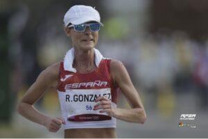 Raquel González durante la carrera (Miguelez Team, RFEA)